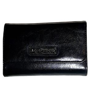 LONGABERGER BLACK TRIFOLD WALLET